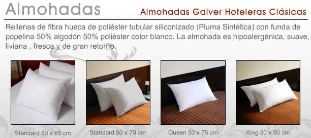 Almohadas para hoteles clásicas