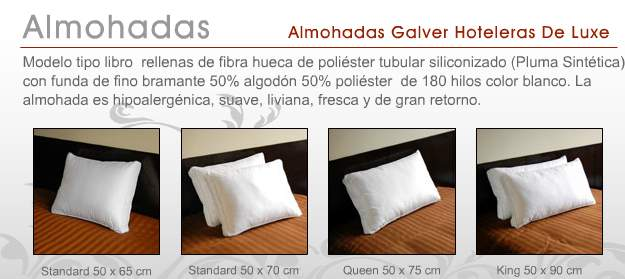 Almohadas para hoteles Galver